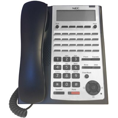 NEC SL1100 24-Button Digital Telephone (Black) (1100063) (Refurbished)