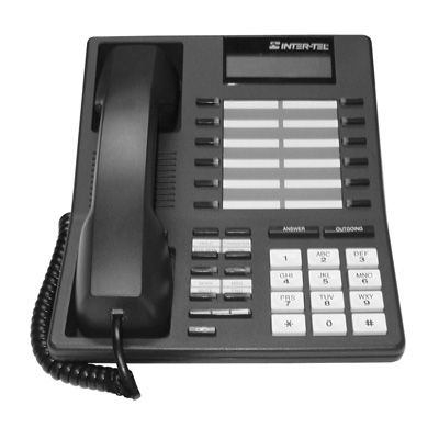 Inter-Tel Axxess 550.4400 Telephone, 12-Butttons, Small Display, Speaker (Refurbished)