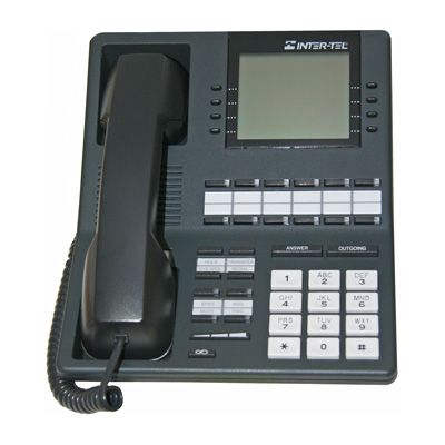 Inter-Tel Axxess 550.4500 Telephone, 12 Buttons, Large 6-Line Display, Full Duplex Speaker (Refurbished)