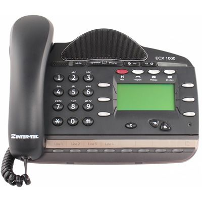 Inter-Tel / Mitel 3000 8-Button Phone, 4-Line Display, Full-Duplex (618.6115) (Refurbished)