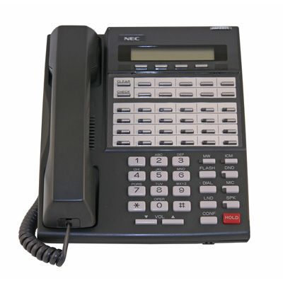 NEC 80663 Telephone with 34-Buttons, Display and Speakerphone (Refurbished)