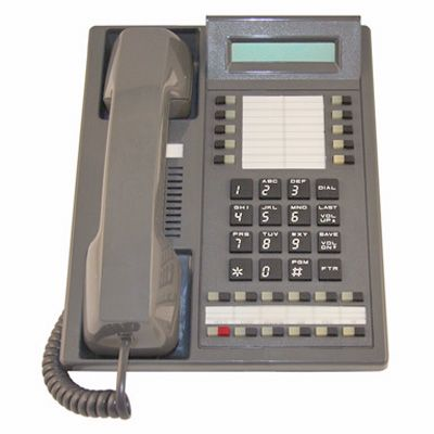 Nitsuko 88673 Telephone, 16-Buttons, Display, Speakerphone (Refurbished)