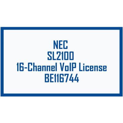 NEC BE116744 SL2100 VoIP 16-Channel License