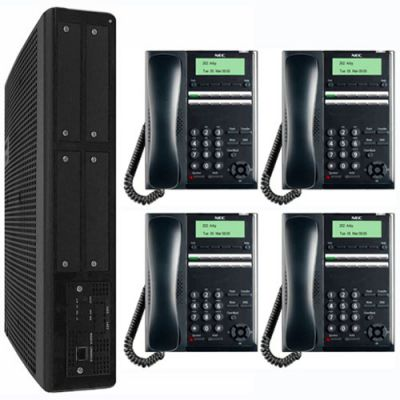 NEC SL2100 Digital Quick-Start Kit with 12-Button Digital Telephones (3x8x2) (BE117449)