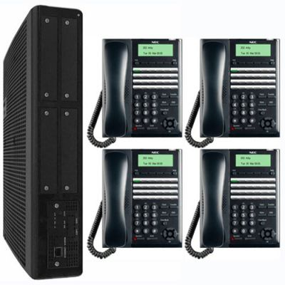 NEC SL2100 Digital Quick-Start Kit with 24-Button Digital Telephones (3x8x2) (BE117450)