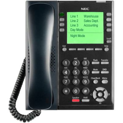 NEC SL2100 8-Button Self-Labeling IP Telephone (BE117453)