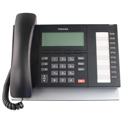Toshiba DP5022-SD Telephone, 10-Buttons, Speaker, 4-Line Non-Backlit LCD (Refurbished)