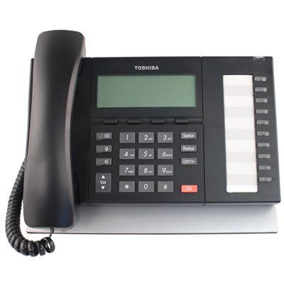 Toshiba DP5022-SDM Telephone, 10-Buttons, Speaker, 4-Line Non-Backlit LCD (Refurbished)