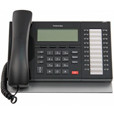 Toshiba DP5032-SD Telephone, 20-Buttons, Speaker, 4-Line Non-Backlit LCD (Refurbished)