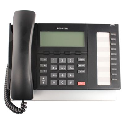 Toshiba DP5122-SD Telephone, 10-Buttons, Speaker, 4-Line Backlit LCD (Refurbished)