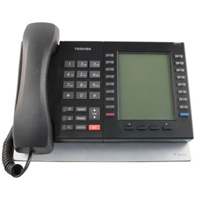 Toshiba DP5130-FSDL Telephone, 20-Buttons, Full-Duplex Speaker, 9-Line Backlit LCD (Refurbished)