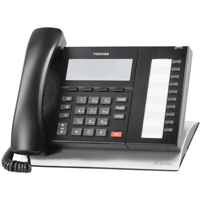 Toshiba IP5122-SDC IP Telephone with 10-Buttons, 4-Line Backlit LCD (Refurbished)