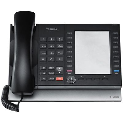 Toshiba IP5531-SDL IP Telephone with 20-Buttons, 9-Line Non-Backlit LCD (Refurbished)