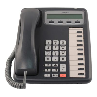 Toshiba IPT2010-SD IP Phone, 10-Buttons, 2-Line LCD, Speaker (Refurbished)