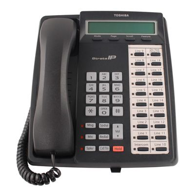 Toshiba IPT1020-SD IP Phone, 10-Buttons, 2-Line LCD, Speaker (Refurbished)