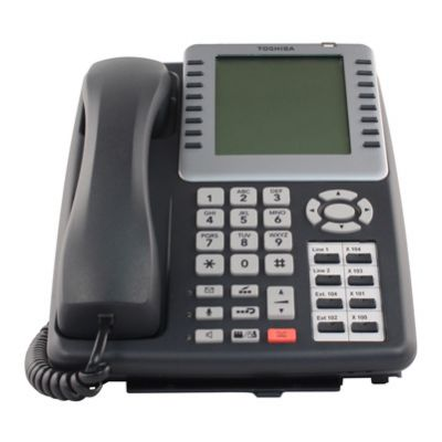 Toshiba IPT2008-SDL IP Phone, 8-Button, 8-Line LCD, Speaker (Refurbished)