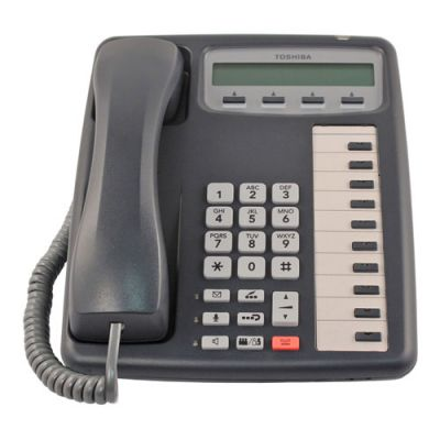 Toshiba IPT2010-SDC IP Phone, 10-Buttons, 2-Line LCD, Speaker, ACO Button (Refurbished)