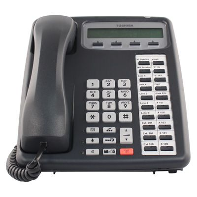 Toshiba IPT2020-SD IP Phone, 20-Buttons, 2-Line LCD, Speaker (Refurbished)