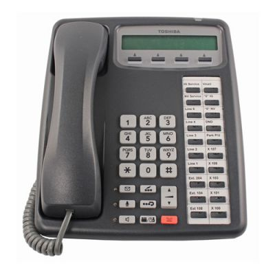 Toshiba IPT2020-SDC IP Phone, 20-Buttons, 2-Line LCD, Speaker (Refurbished)