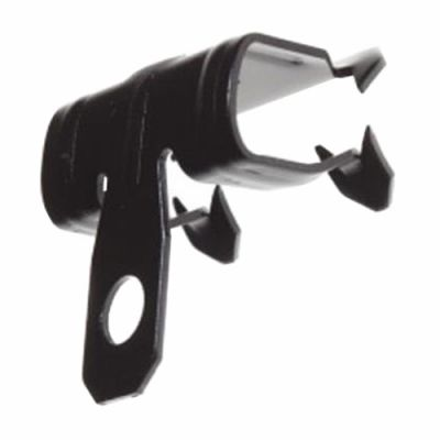 """Hammer-On Beam Flange Clip 1/4"""",  with 1/4"""" Hole - 100PK  (JH-4247-1/8H)"""