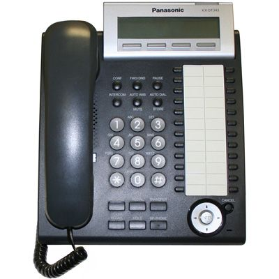 Panasonic KX-DT343 Digital Telephone with 24-Buttons & 3-Line Backlit LCD (Refurbished)