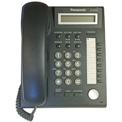 Panasonic KX-NT321 IP Telephone with 8-Buttons, 1-Line Backlit LCD, PoE and Speakerphone (Refurbished)
