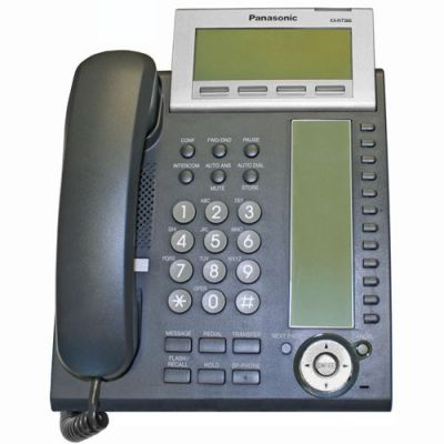 Panasonic KX-NT366 IP Telephone with 24 Buttons, 6-Line Backlit LCD, PoE and Speakerphone (Refurbished)