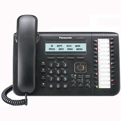 Panasonic KX-NT543 IP Telephone with 24-Buttons, 3-Line Backlit LCD, PoE and Speakerphone (Refurbished)
