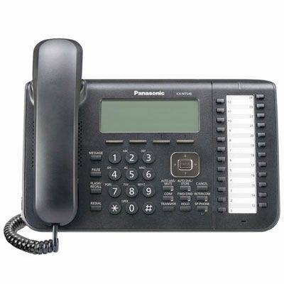 Panasonic KX-NT546 IP Telephone with 24-Buttons, 6-Line Backlit LCD, PoE and Speakerphone (Refurbished)
