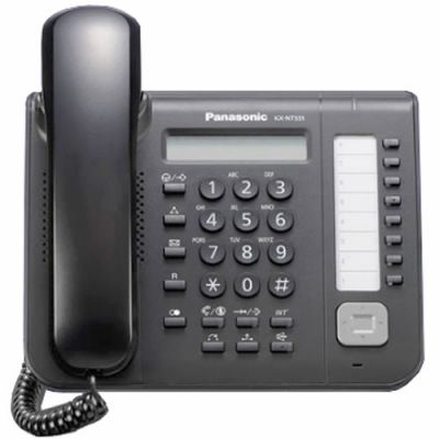 Panasonic KX-NT551 IP Telephone with 8-Buttons, 1-Line Backlit LCD, PoE and Full Duplex Speakerphone (Refurbished)