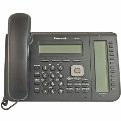 Panasonic KX-NT553 IP Telephone with 24-Buttons, 3-Line Backlit LCD, PoE and Full Duplex Speakerphone (Refurbished)
