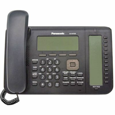Panasonic KX-NT556 IP Telephone with 36-Buttons, 6-Line Backlit LCD, PoE and Full Duplex Speakerphone (Refurbished)