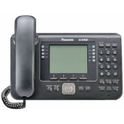 "Panasonic KX-NT560 IP Telephone with 32-Buttons, 4.4"" Backlit LCD, PoE and Full Duplex Speakerphone (Refurbished)"