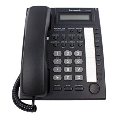 Panasonic KX-T7730 Telephone with 12 Buttons, Speakerphone & 1-Line Backlit LCD Display (Refurbished)
