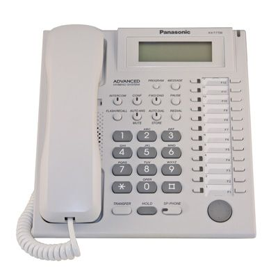 Panasonic KX-T7735 Telephone with 24 Buttons, 3-Line Backlit Display & Speakerphone (Refurbished)