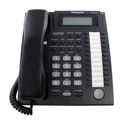 Panasonic KX-T7736 Telephone with 24 Buttons, 3-Line Backlit Display & Speakerphone (Refurbished)