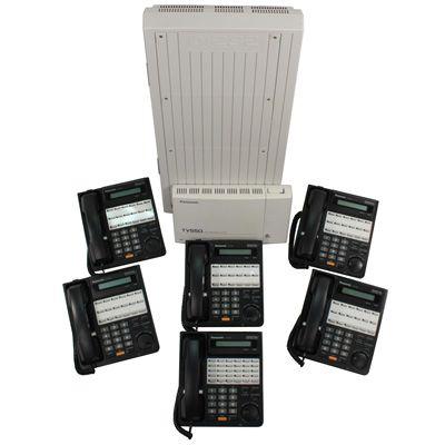 Panasonic KX-TD1232 KSU with 6 Phones & Voicemail (Refurbished)
