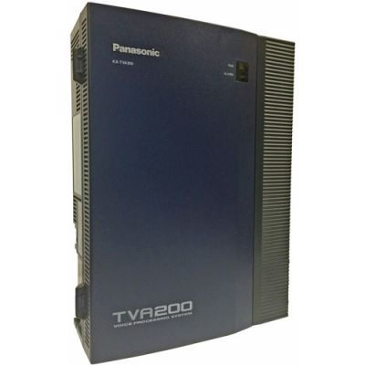 Panasonic KX-TVA200 Voicemail - 4 Ports / 1000 Hours of Storage / 1024 Mailboxes (Refubished)