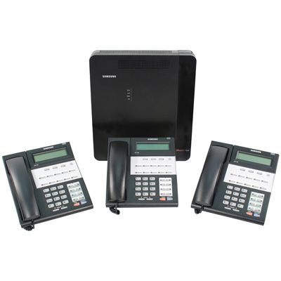 Samsung OfficeServ 7030 Starter Kit with (3) iDCS-18D Telephone (FBOS703003) (New)