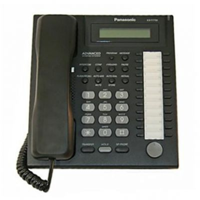 Panasonic KX-T7731 Telephone with 24 Buttons, Speakerphone, 1-Line Display & Backlit Dial Keypad (Refurbished)