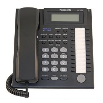 Panasonic KX-T7737 Telephone with 24 Buttons, Speakerphone, Talking Caller-ID & 3-Line Backlit Display (Refurbished)
