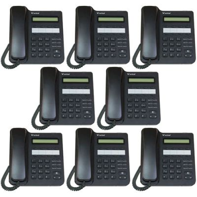 Vertical Edge VU-9208-00 8-Button Digital Phone, Non-backlit, Half Duplex (8 Pack) (New)