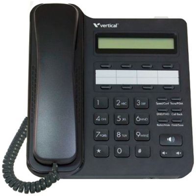 Vertical Edge VU-9208-00 8-Button Digital Phone, 2-Line Non-backlit LCD, Half Duplex (New)