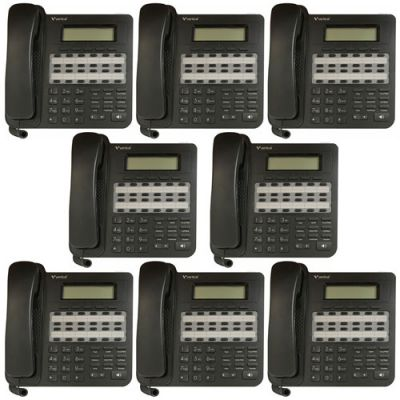 Vertical Edge VU-9224-00-8P 24-Button Digital Phone, Non-Backlit, Half Duplex (8 Pack) (New)