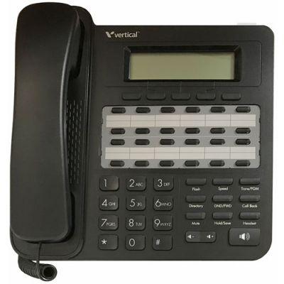 Vertical Edge VU-9224-00 24-Button Digital Phone, 3-Line Backlit LCD, Half Duplex (New)