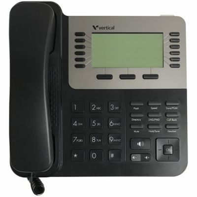 Vertical Edge VU-9240-00 24-Button Digital Phone, 320x130 Graphic Backlit LCD, Full Duplex (New)